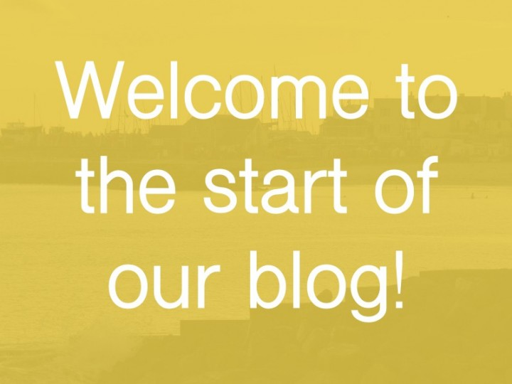 Welcome to the start of our blog!