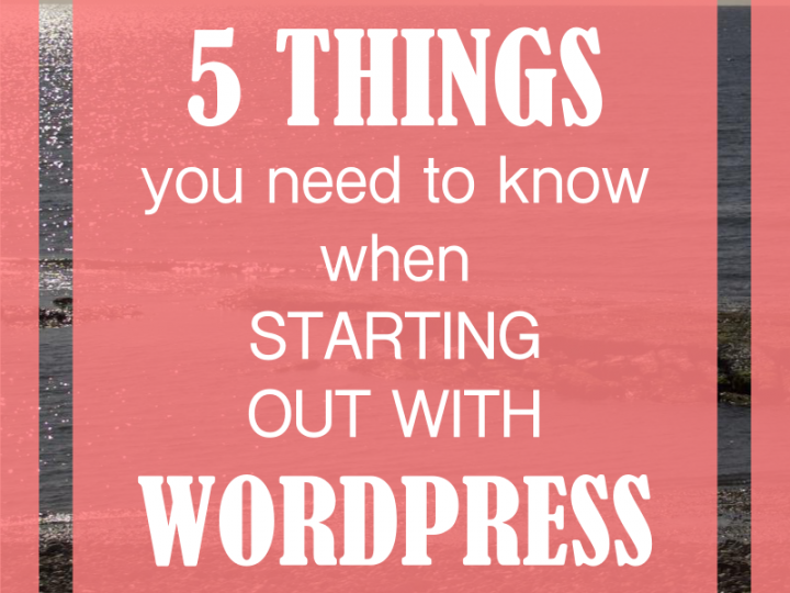 5 Things You Need to Know About How to Build a Website with WordPress