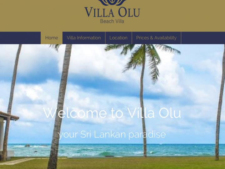 Launch of Villa Olu website
