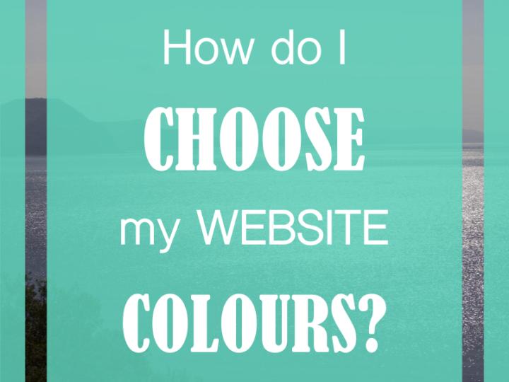 How do I choose my website colours?