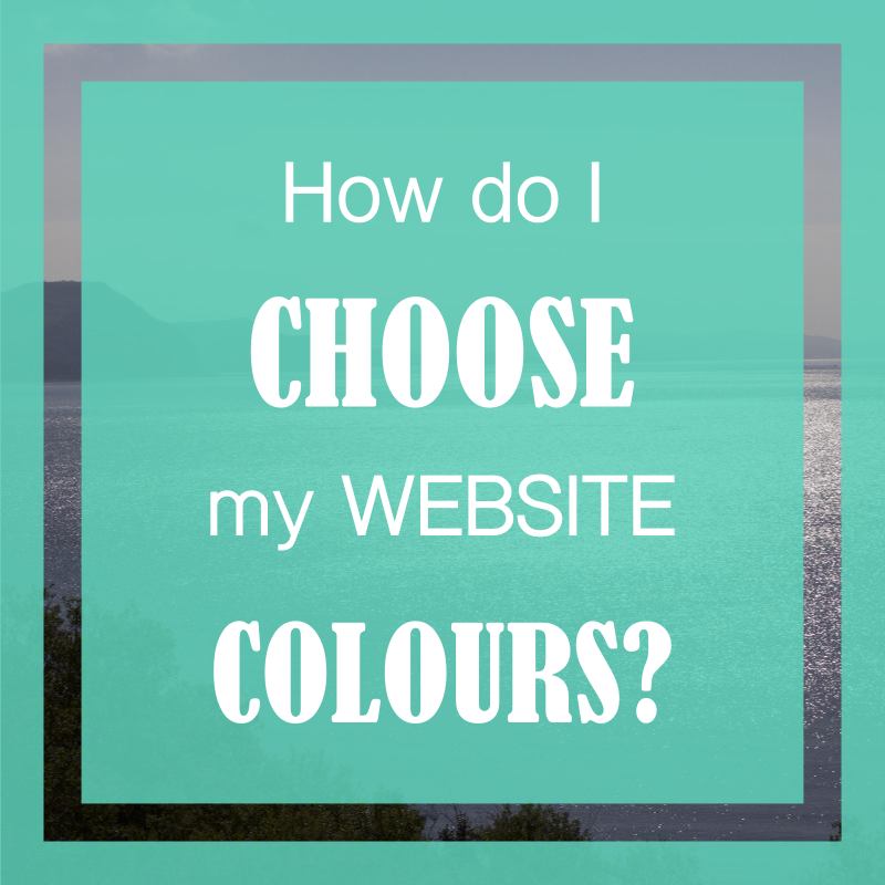 How to choose website colours