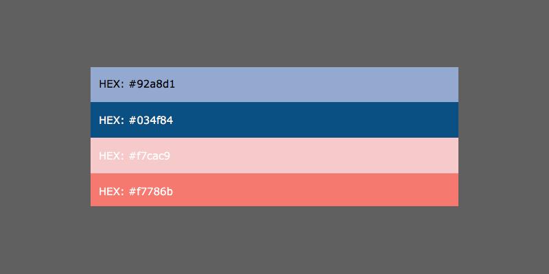 hex colours