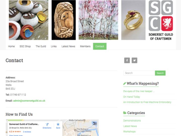 New WordPress Website for Somerset Guild of Craftsmen